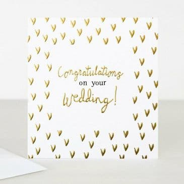 Simply Lovely! Caroline Gardner 'Congratulations on your Wedding! Card with Gold